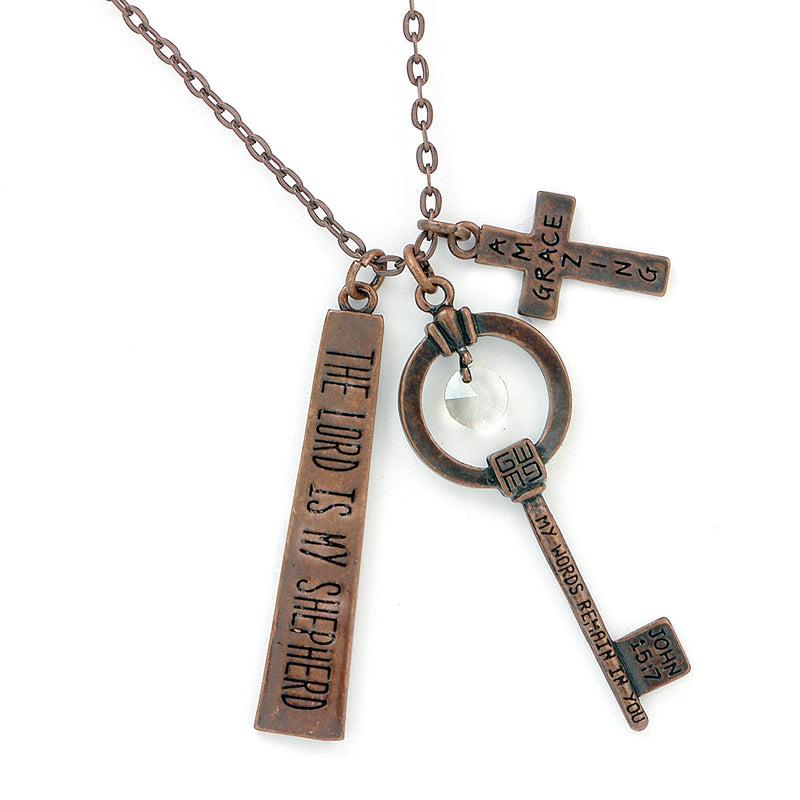 Monami Necklace - Amazing Grace / The Lord is my Shepherd