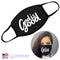 100% COTTON MADE IN THE USA GOD IS GOOD BLACK FABRIC FACE MASK