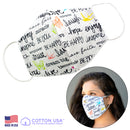 100% COTTON MADE IN THE USA VERSES WHITE 3D FABRIC FACE MASK