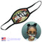 Kids CAMOUFLAGE BRAVE Fabric Face Mask