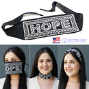 100% COTTON MADE IN THE USA HOPE - BLACK TRI-BANDANA FACE MASK