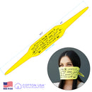 100% COTTON MADE IN THE USA YELLOW - INSPIRATION TRI-BANDANA FACE MASK