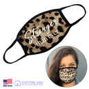 100% COTTON MADE IN THE USA STRONGER THAN EVER LEOPARD FABRIC FACE MASK