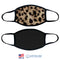 100% COTTON MADE IN THE USA PLAIN LEOPARD FABRIC FACE MASK