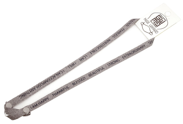 FACE MASK LANYARD - GRAY - I AM
