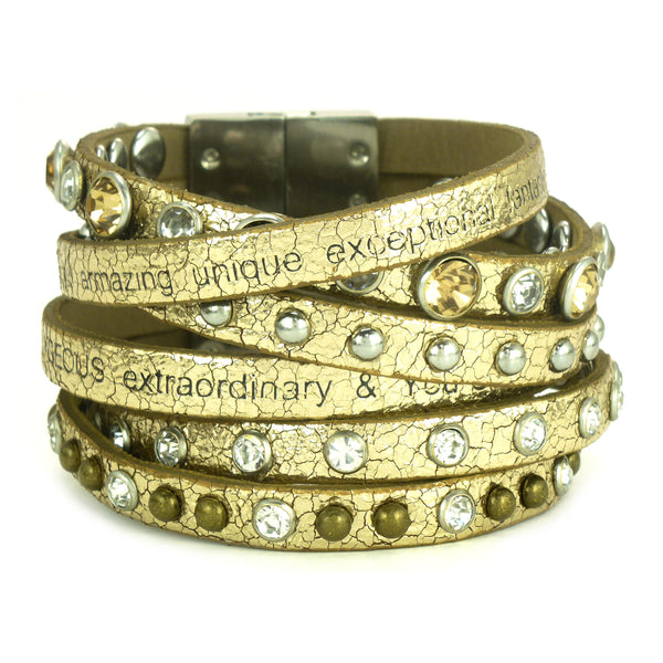 You are beautiful Dream Cuff Gold