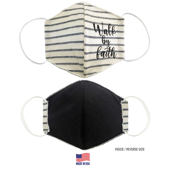 MADE IN THE USA - WALK BY FAITH - 3D FABRIC FACE MASK - SERIES 2