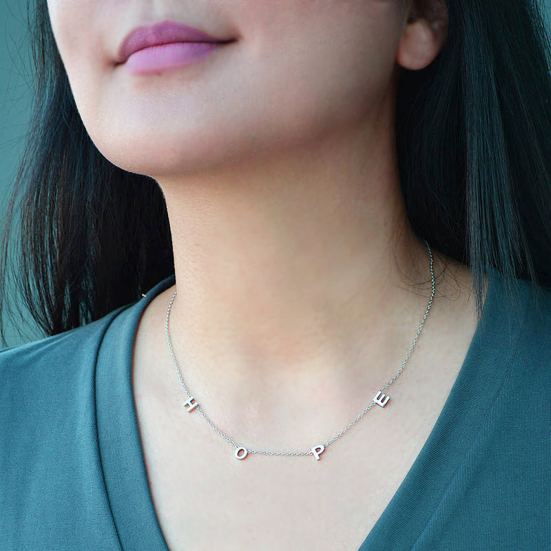 "Stainless Steel ""HOPE"" Necklace"