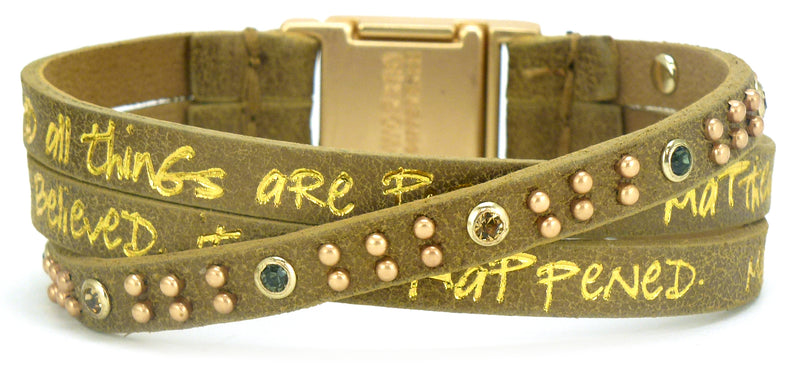 Sacred Gold Bible Verse Trio Cuff