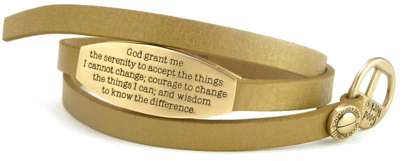 WRAP AROUND BRACELET - PEACE-SACRED - SERENITY PRAYER