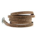 RW - Scripture Wrap Around - Isaiah 60:1 - Earth Dark Brown
