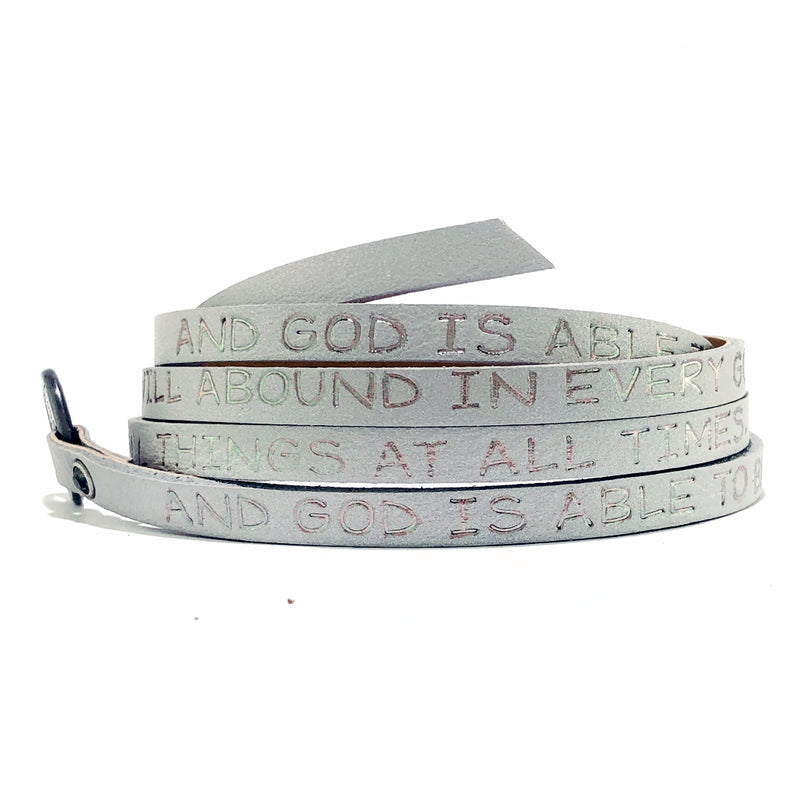 RW - Scripture Wrap Around - 2 Corinthians 9:8 - Light Gray
