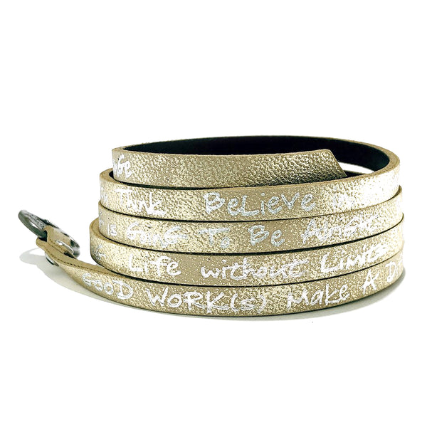 Believe You Can Wrap Around – Light Gold