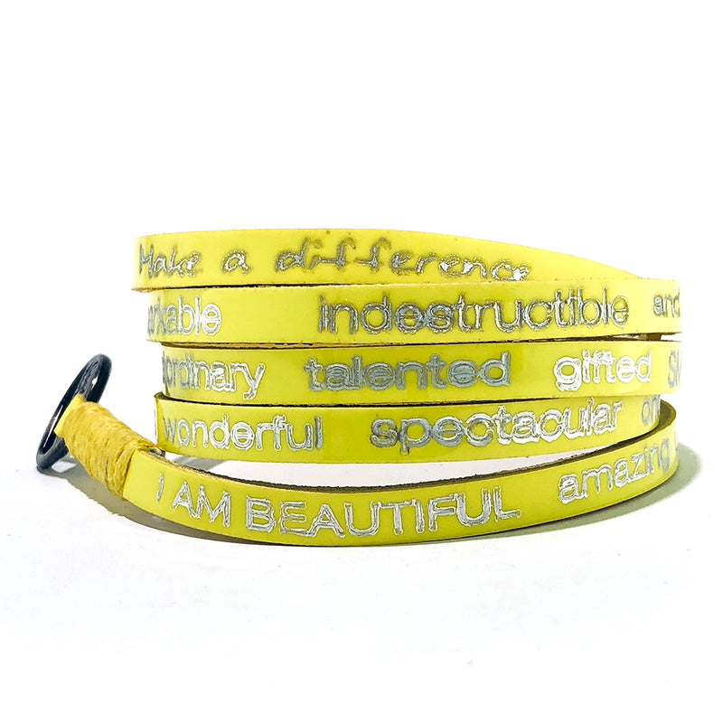 RW - I am Beautiful Wrap Around - Neon Yellow