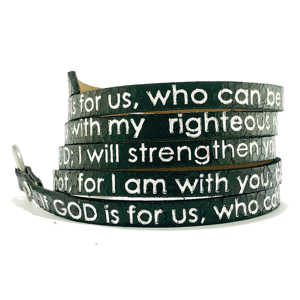 Bible Verse Wrap Around - Isaiah 41:10 - Black