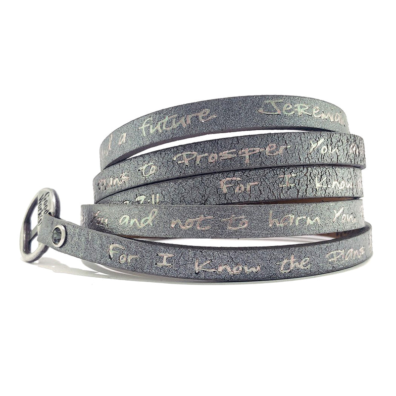 Bible Verse Wrap Around - Jeremiah 29:11 - Dark Gray