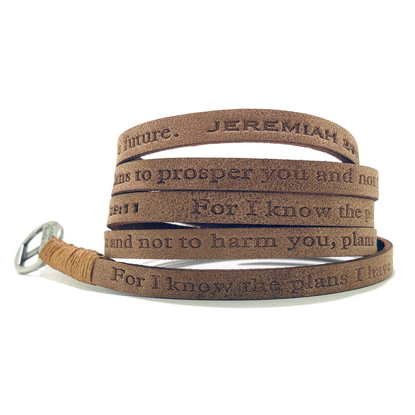 Bible Verse Wrap Around – Jeremiah 29:11 – Earth Brown