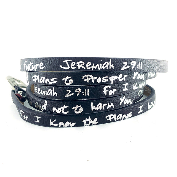 Bible Verse Wrap Around - Jeremiah 29:11 - Eggplant