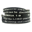 Bible Verse Wrap Around – Joshua 1:9 – Metallic Black