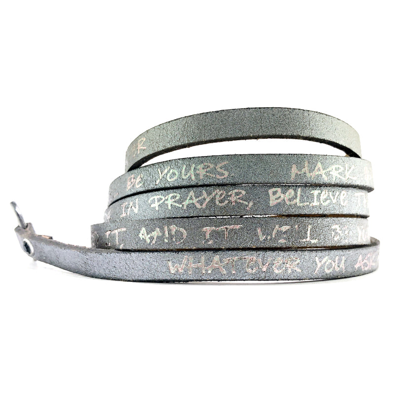 Bible Verse Wrap Around – Mark 11:24 – Gunmetal