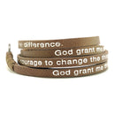 Serenity Prayer Wrap Around – Bronze