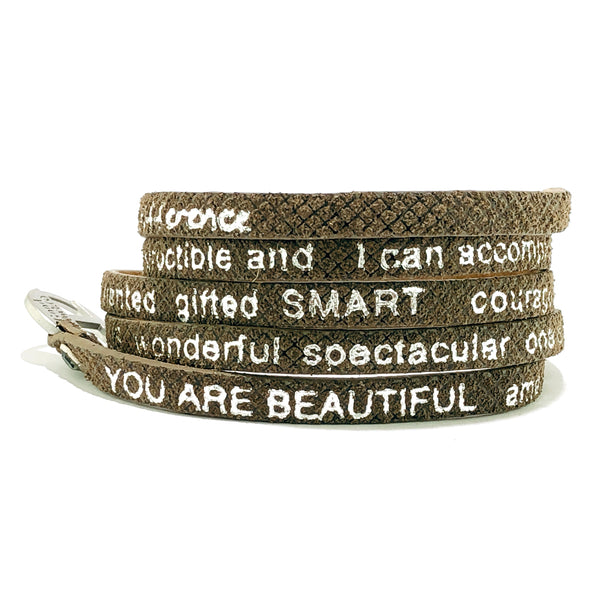 You Are Beautiful Wrap around – Brown