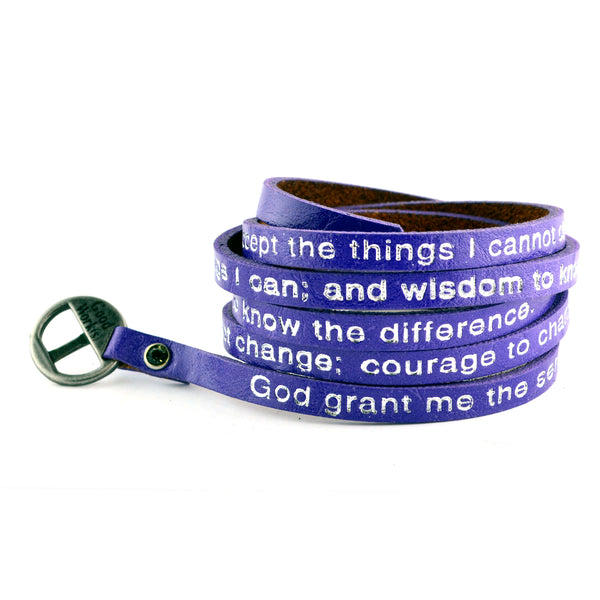 Serenity Prayer Wrap Around – Purple