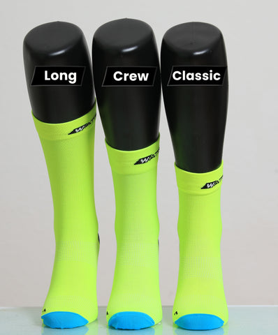 cycling socks length comparison
