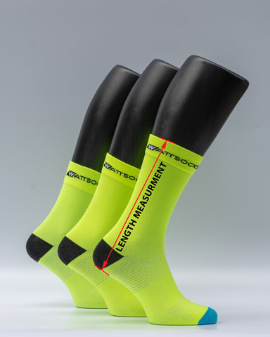 cycling sock length measurement