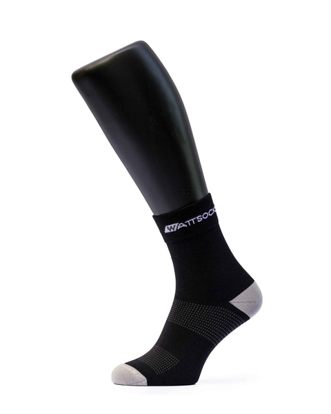 wattsocks black cycling socks