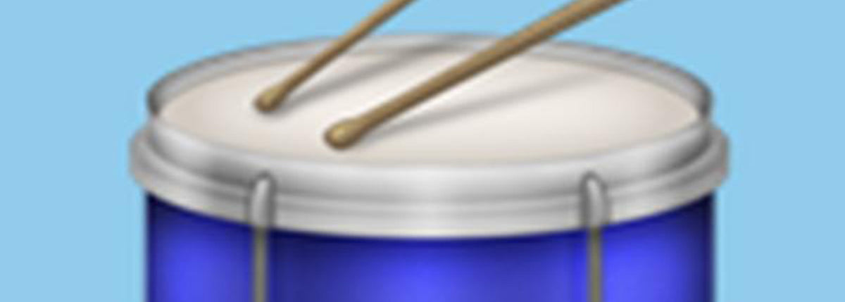 Drum Emoji - It's Finally Here.