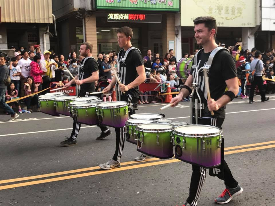 Matrix wearing Lot Riot in Taiwan parade. Tenor Line.