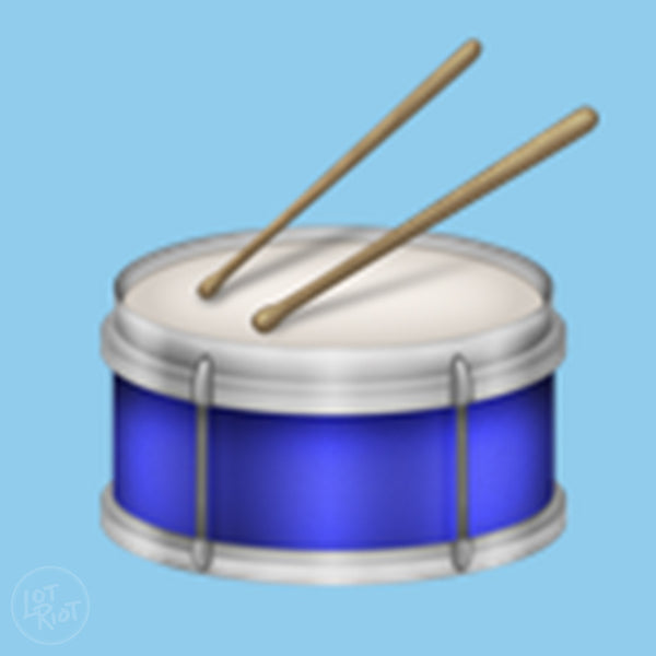 Drum emoji with drumsticks for Unicode 9.0