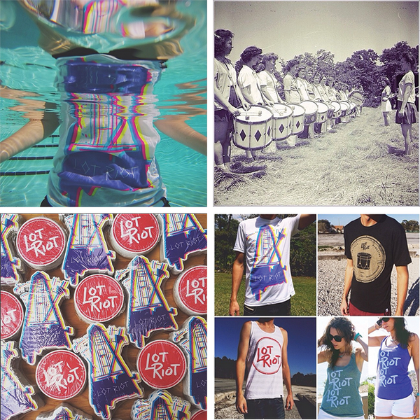 Lot riot drumline instagram summer drum sticker girl drummer wrap-up
