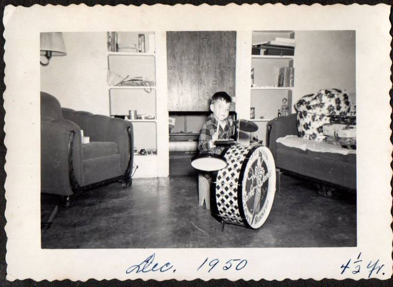 Vintage Drum Photo Christmas