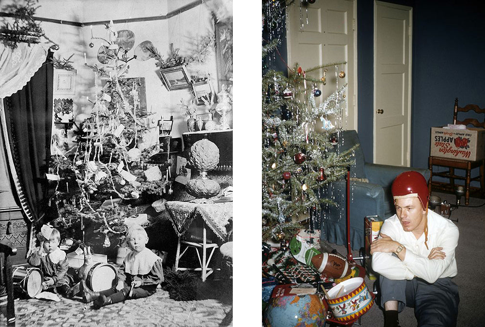 Vintage Christmas Drums Under the Tree