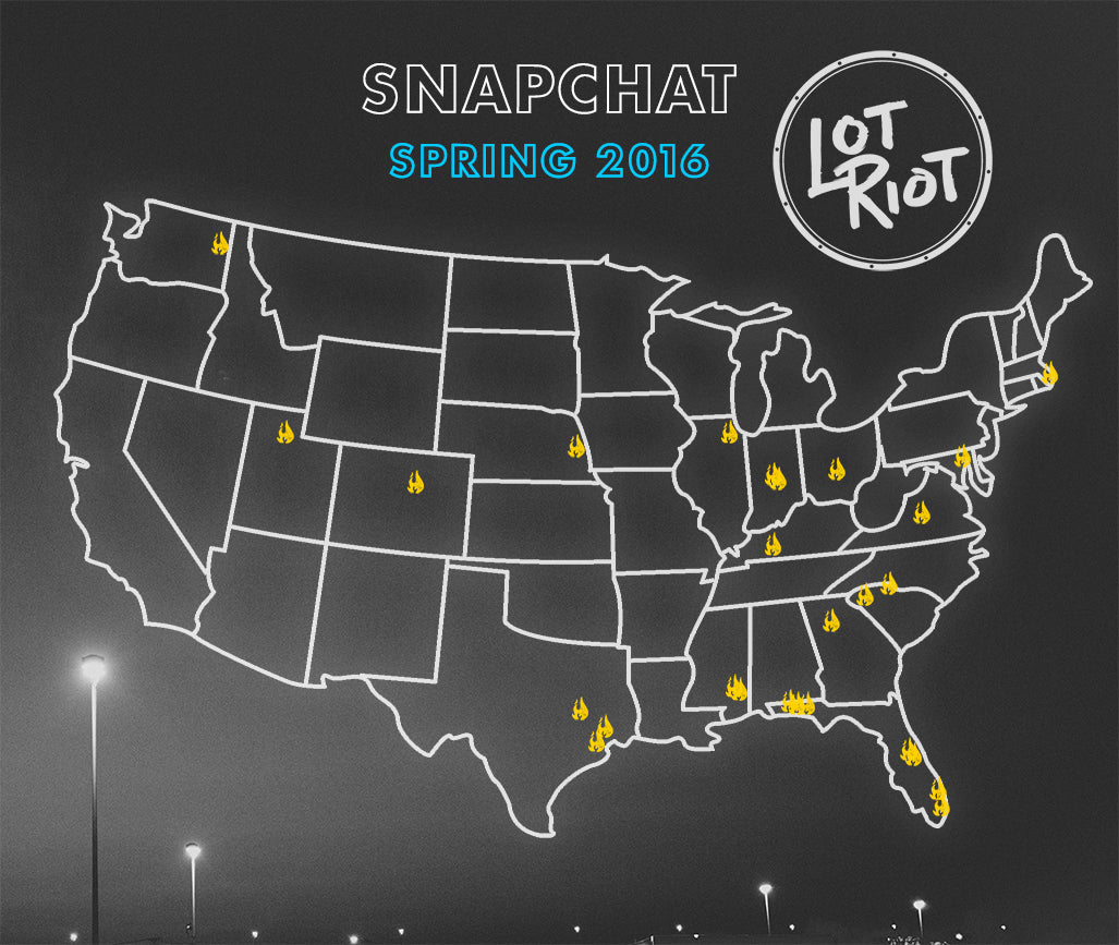 Lot Riot Snapchat Takeovers for Spring 2016