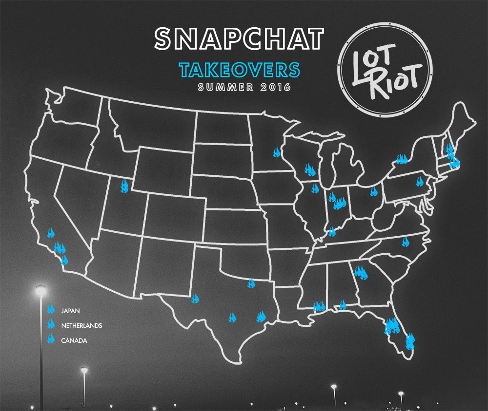 Lot Riot snapchat drumline takeovers Summer 2016