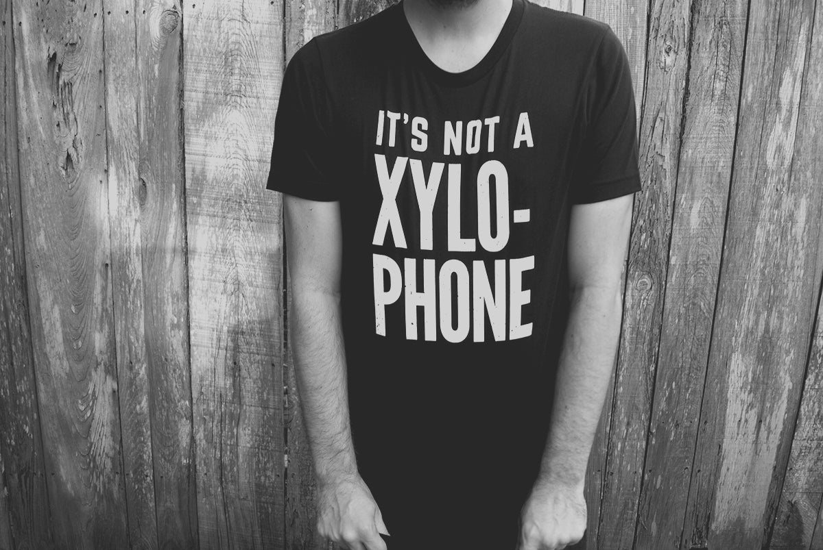Lot Riot - It's Not a Xylophone shirt.