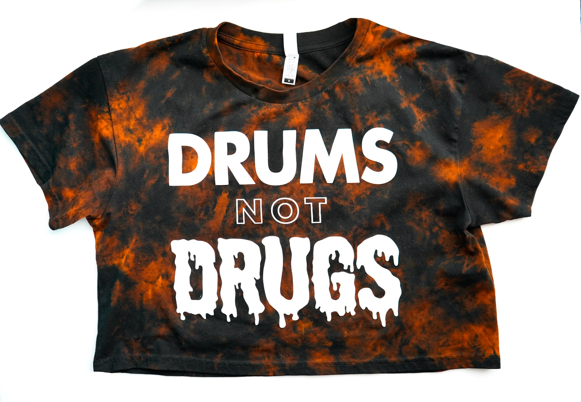 Drums Not Drugs Women's Crop - Dye