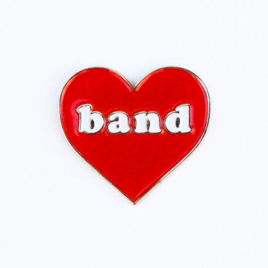 Band Heart Lapel Pin