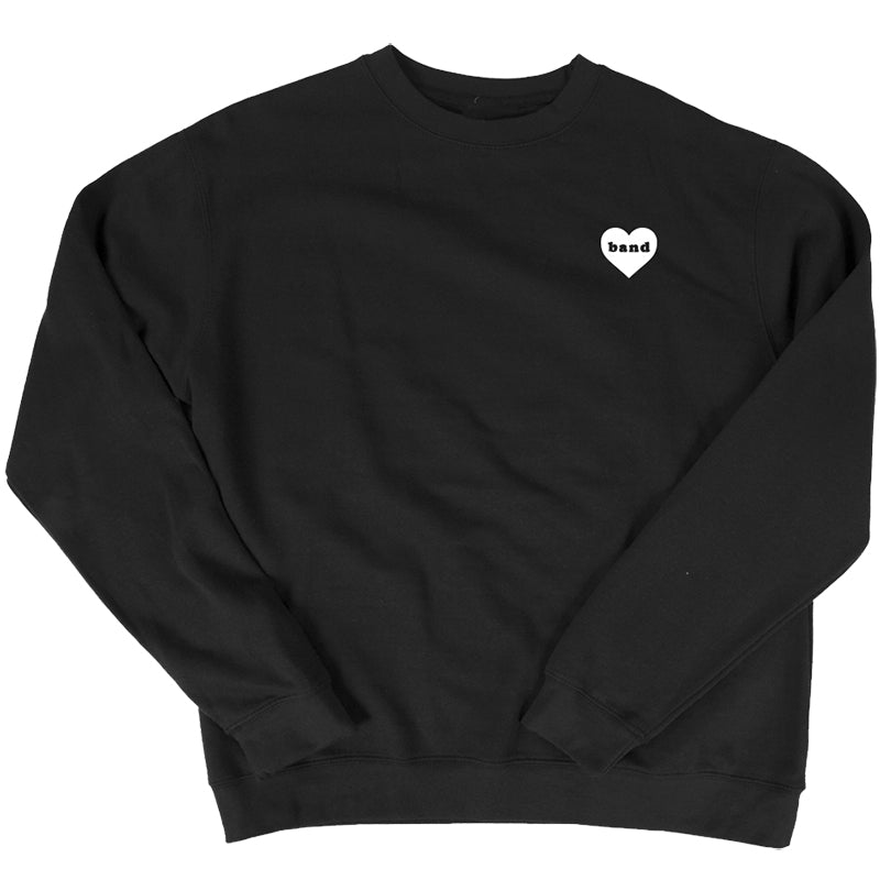Band Heart Sweatshirt - Black