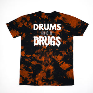Drums Not Drugs Tee - Bleach Dye