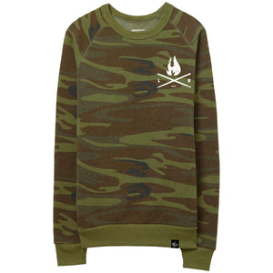 Flame Sweater - Camo/White