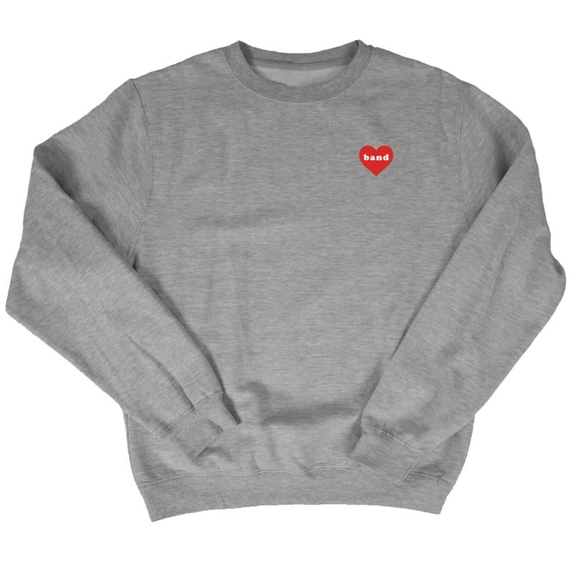 Band Heart Sweatshirt - Grey