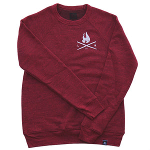 Flame Sweater - Cardinal/White