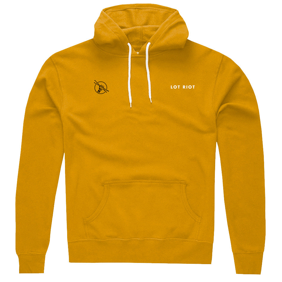 Three Four Pullover Hoodie - Gold