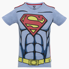 Superman Muscle Cut Grey T-Shirt for Boys