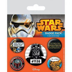 Comic Star Wars Cult Set of 5 Badges