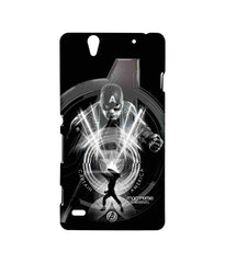 Avengers Captain America Age of Ultron Black Captain Sublime Case for Sony Xperia C4